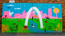 The Trinity Project Mural | Commissioned Installation by City of Dallas