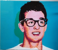 Buddy Holly | Hilton Hotel Commissioned Piece | Cleveland, OH
