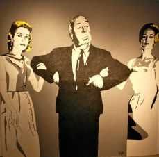 Hitchcock & His Blondes - Gaff Tape Installation